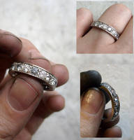 Silvermist diamond ring by fairyfrog