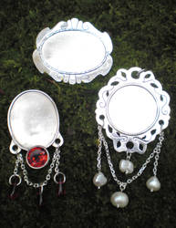 Miniature jewel frames by fairyfrog