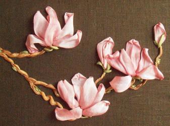 Silk Magnolia Soulangeana by fairyfrog