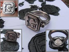 Grim signet ring by fairyfrog