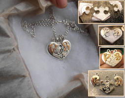 Heart puzzle pendant by fairyfrog