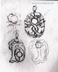 Moonstone tree sketch by fairyfrog