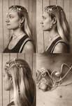Old headdress photoshoot by fairyfrog