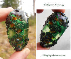 Embryonic green dragon egg by fairyfrog