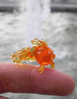 Torsten the dainty glass goldfish by fairyfrog