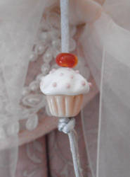 Midnight Snack glass cupcake charm by fairyfrog
