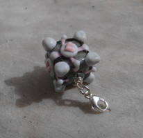 Portal Companion Cube pendant by fairyfrog