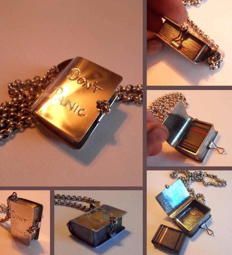 DON'T PANIC sterling USB memory pendant by fairyfrog