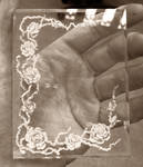 Rose and thorns intaglio photo frame by fairyfrog
