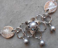 Water Lily necklace by fairyfrog