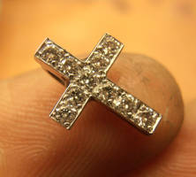 Tiny cross pendant by fairyfrog