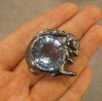 Moon Hare pendant concept idea by fairyfrog