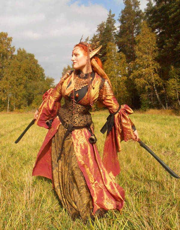 Ember in the field by fairyfrog