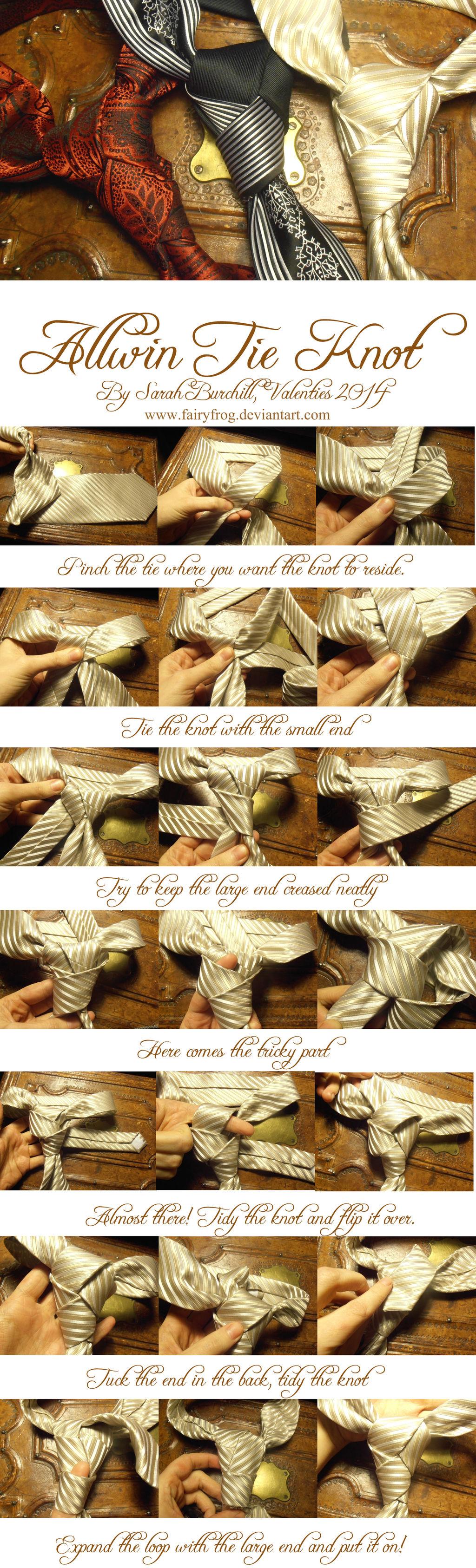 The Allwin tie knot Tutorial by fairyfrog