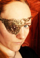 Steampunk eyepatch by fairyfrog