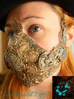 Lady Bane Steampunk Respirator by fairyfrog