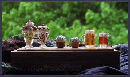 Nomnom glass miniatures by fairyfrog