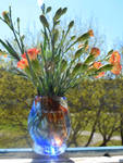 Furnace blown glass vase by fairyfrog