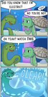 Eel and Sea Turtle Part Three by theodd1soutcomic