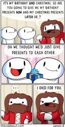 Christmas Birthday Boy by theodd1soutcomic