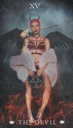 Halsey as ''The Devil'' Tarot Card by marcosphil34