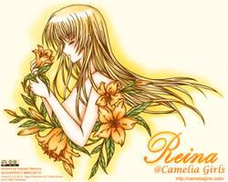 Reina and Lilies Colored by hayashinomura