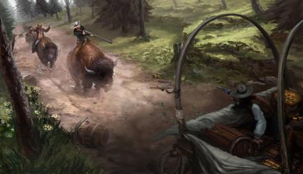 Buffalo Posse by JordyLakiere