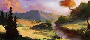 Landscape warmup - Saturaustria by JordyLakiere