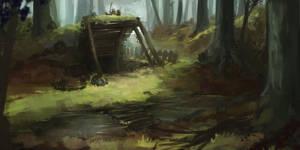 Forest sketch by JordyLakiere