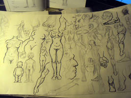 Anatomy Sketches2 by JordyLakiere