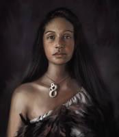 Maori Tribe Girl by JordyLakiere