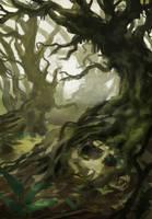creepy tree yo by JordyLakiere