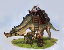 Dwarven Merchant by JordyLakiere