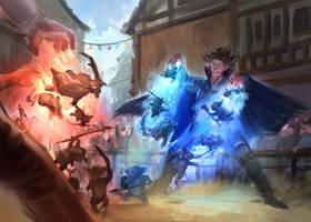 Summoner Battle by JordyLakiere