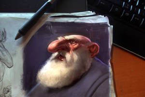 Dwarf head by JordyLakiere