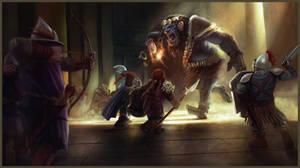 Dwarves vs Troll! by JordyLakiere