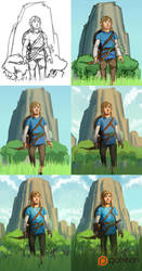 Legend of Zelda: Breath of the Wild Steps! by JordyLakiere