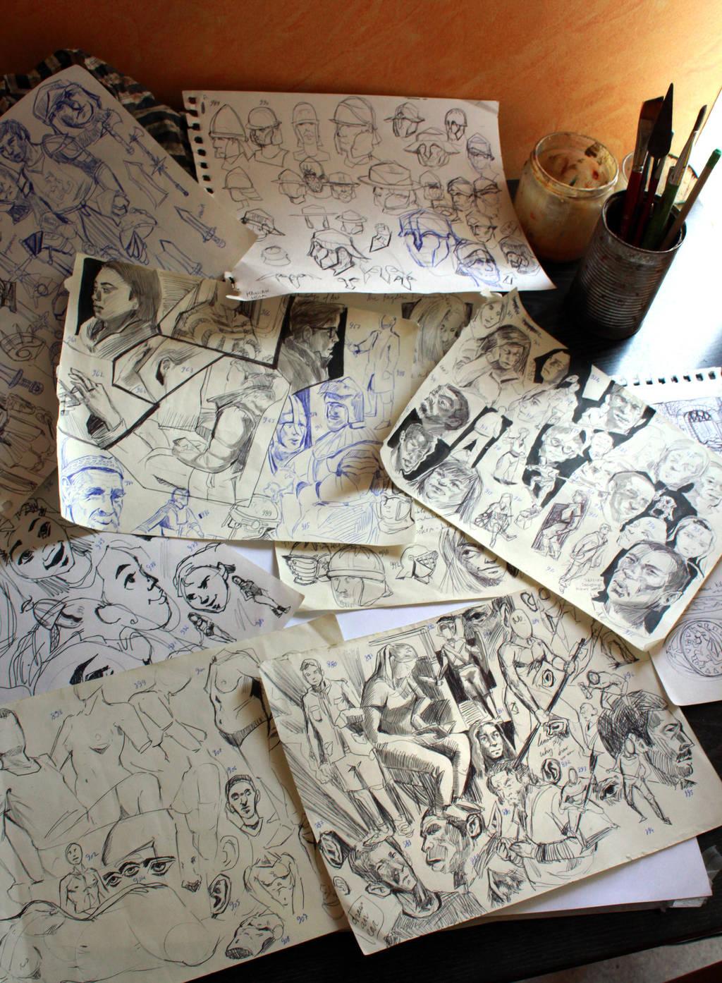 Studies 999 of 1000 by JordyLakiere