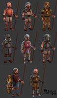 We who are about to Die - Armor set concept art by JordyLakiere
