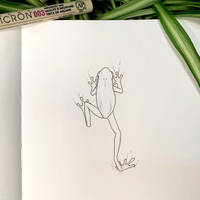 Inktober 27: Frog!! by Alithographica