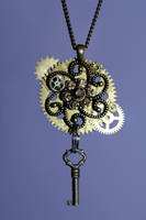 Steampunk Necklace by DemoraFairy