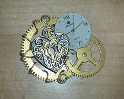 Steampunk Brooch by DemoraFairy