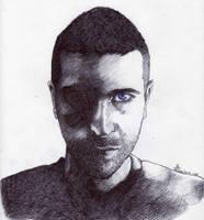 Self Portrait - Ballpoint pen by fabri360