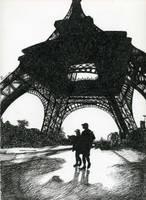 Paris - Pitt artist pen by fabri360