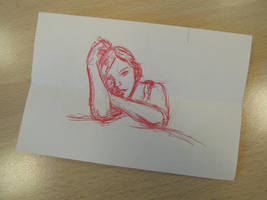 Sketching a girl.. by fabri360
