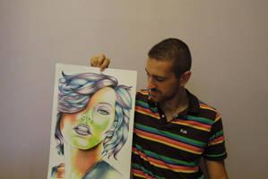 Milla Jovovich and me - Portrait by fabri360