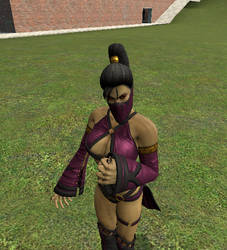 Caught By Giantess Mileena Alt Ver. 1 by jawsjr2