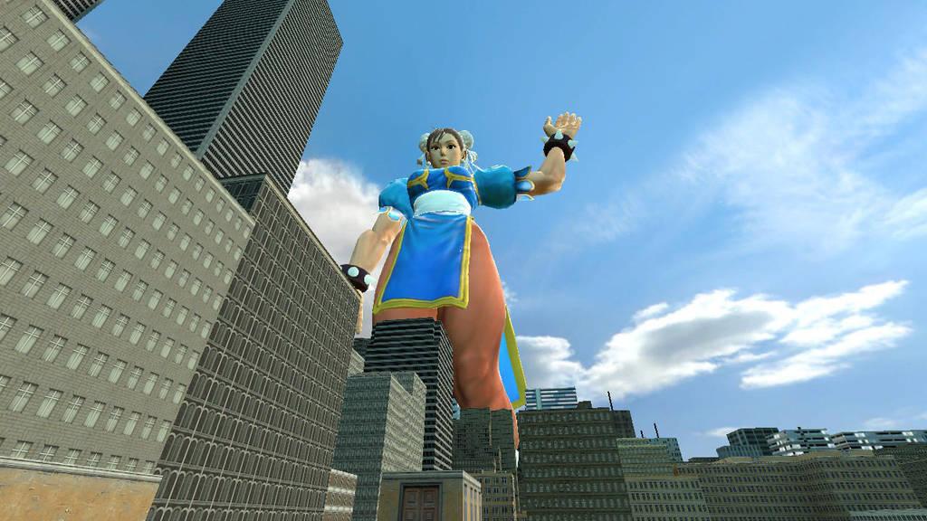 Giantess Chun-Li by jawsjr2