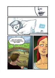 Digital comic page by Koumaki
