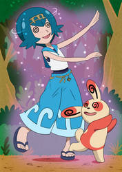 Request - Spinda uses Teeter Dance on Lana by Wild-Cartoon-Feather